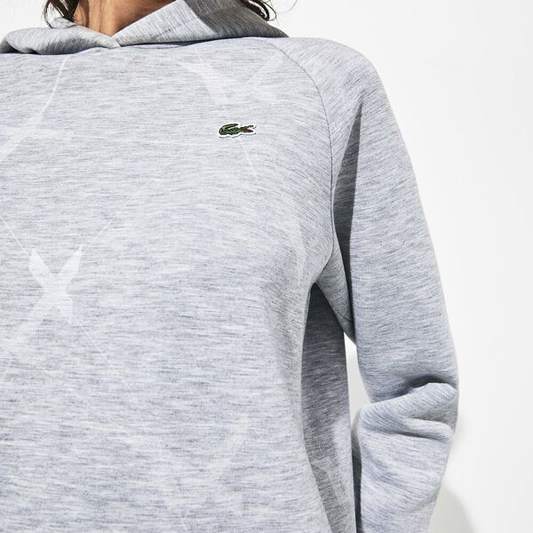 Women's Tennis Fancy Double Faced Sweat, SILVER CHINE, hi-res