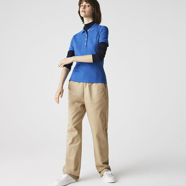 Women's Stretch Cotton Shirt, UTRAMARINE, hi-res