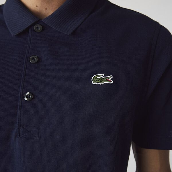 Men's SPORT Tennis regular fit Polo Shirt in ultra-lightweight knit, NAVY BLUE, hi-res