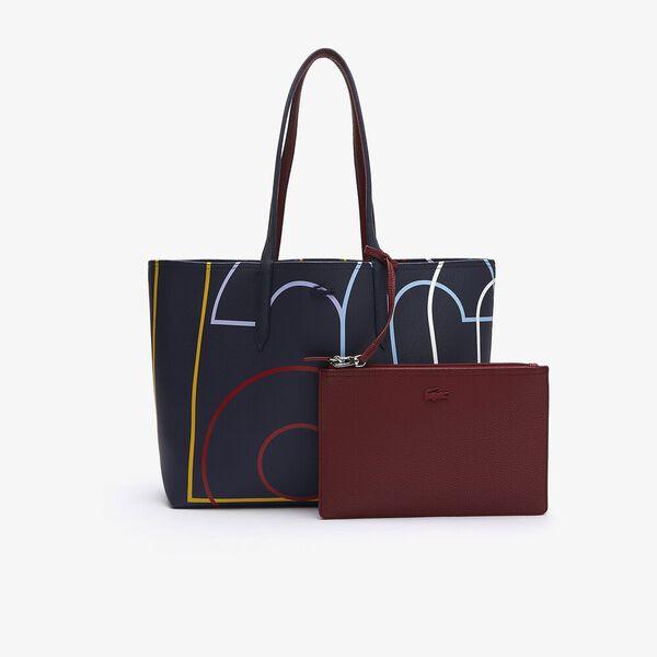 Women's Anna Zip Pouch Print Canvas Large Shopper Bag