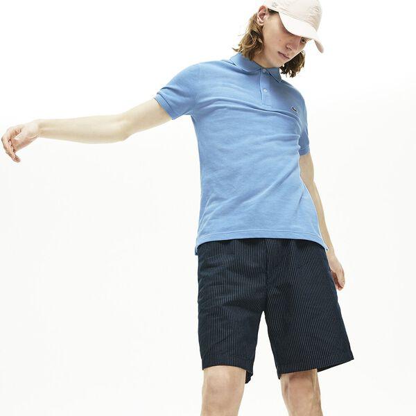 Men's Slim fit Lacoste Polo Shirt in petit piqué, FANION CHINE, hi-res