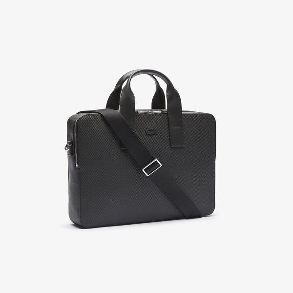 Men's Chantaco Matte Piqué Leather Computer Bag, NOIR, hi-res