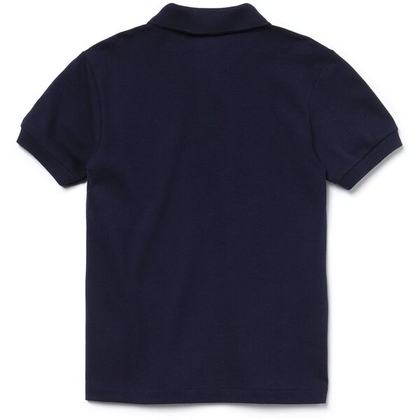 Kids' Petit Piqué Shirt, NAVY BLUE, hi-res