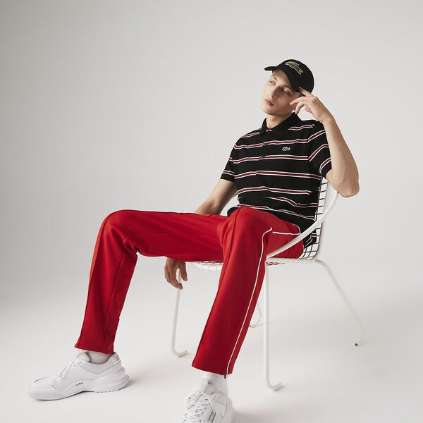 Men's SPORT Striped Lightweight Cotton Polo