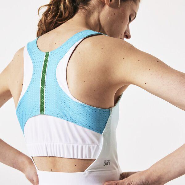 Women's SPORT Roland Garros Asymmetrical Pleated Dress, TURQUOISE/WHITE/GREEN, hi-res