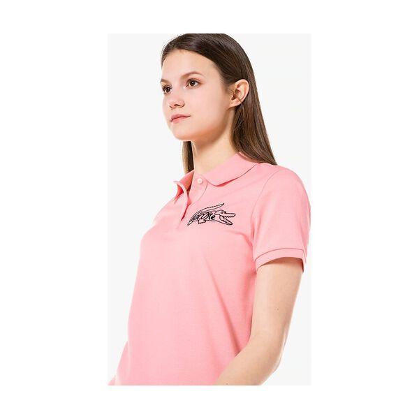Women's Graphic Croc Polo, BAGATELLE PINK, hi-res