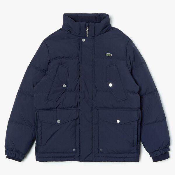 Men's Chic Padded Down Jacket, DARK NAVY BLUE, hi-res