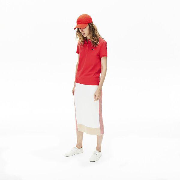 Women's Classic Fit Soft Cotton Petit Piqué Polo Shirt, ENERGIE, hi-res