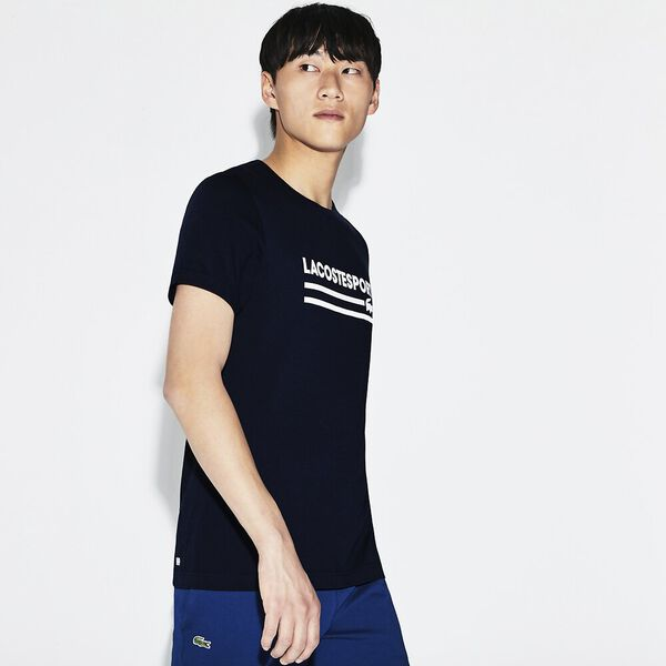 MEN'S RETRO LOGO TEE, NAVY BLUE/WHITE, hi-res