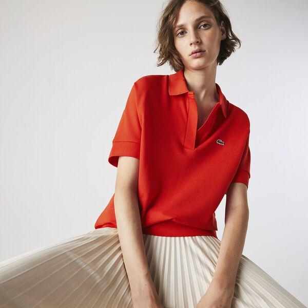 Women's Lacoste Flowy Piqué Polo Shirt