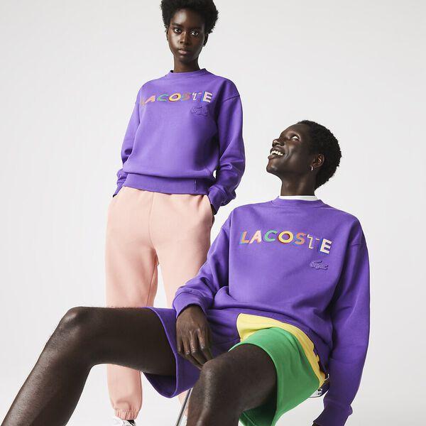 Unisex LIVE Loose Fit Embroidered Fleece Sweatshirt