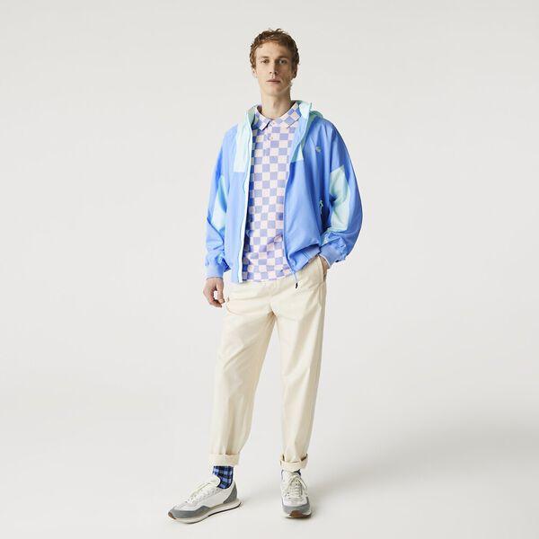 Men's Hooded Lightweight Colorblock Zip Windbreaker