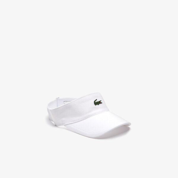 GOLF PIQUE VISOR, WHITE, hi-res