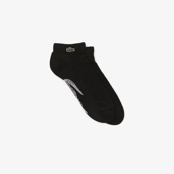 Men's SPORT Printed Crocodile Low-Cut Socks, BLACK/SILVER CHINE, hi-res