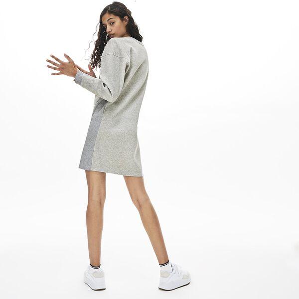 Women's Lacoste Motion Sweatshirt Dress, SILVER CHINE, hi-res