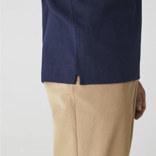 Men's Long-sleeve Paris Polo, MARINE, hi-res