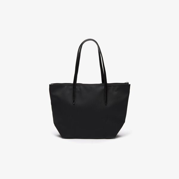 WOMEN'S L.12.12 SMALL SHOPPING BAG, BLACK, hi-res