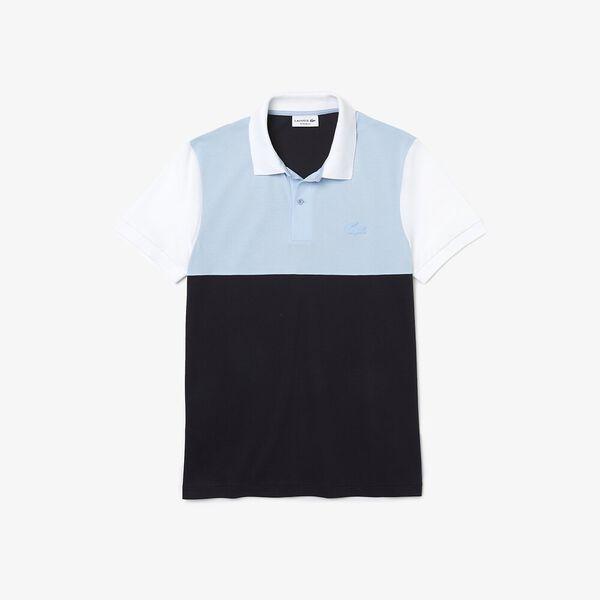 Men's Light Breathable Colorblock Polo, ABYSM/CREEK-WHITE, hi-res