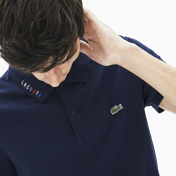 Men's 90S Logomania Slim Fit Polo, NAVY BLUE, hi-res