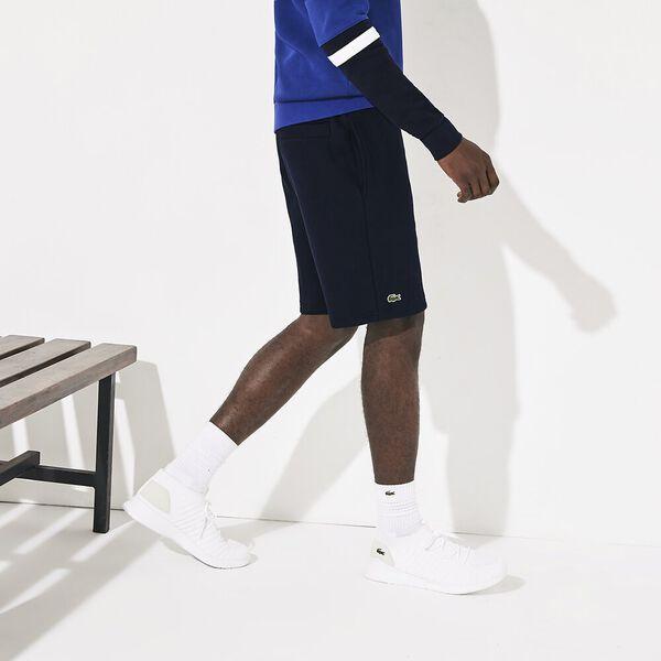 Men's SPORT Tennis Fleece Shorts, NAVY BLUE, hi-res