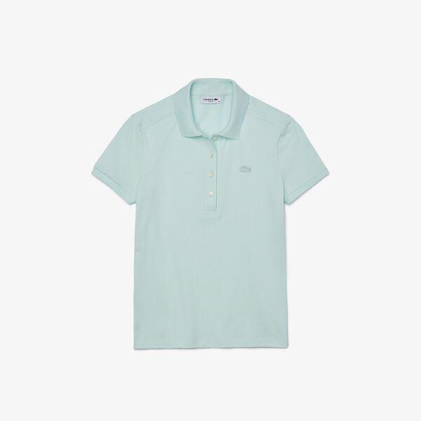 Women's Stretch Cotton Piqué Polo Shirt, IGLOO, hi-res
