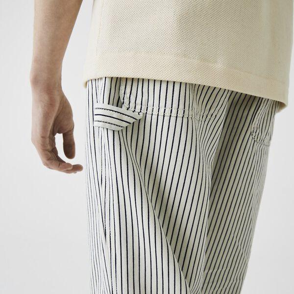 Men's LIVE Striped Pants, FLOUR/BLACK, hi-res