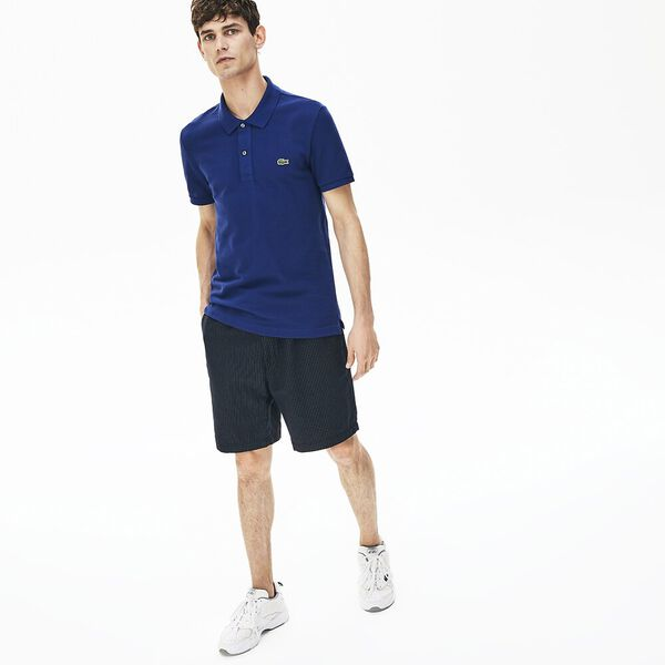 Men's Slim fit Lacoste Polo Shirt in petit piqué, METHYLENE, hi-res