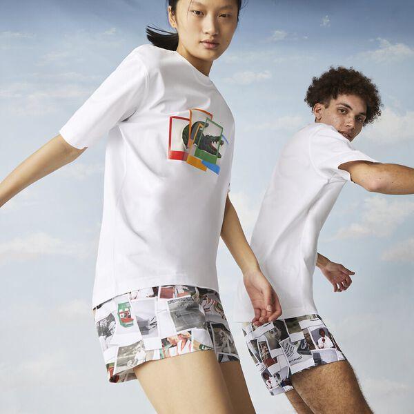 Unisex Lacoste LIVE x Polaroid Cotton T-shirt
