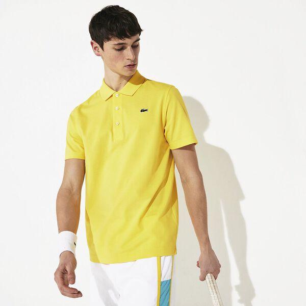 Men's SPORT Tennis regular fit Polo Shirt in ultra-lightweight knit, CITRON 05E, hi-res