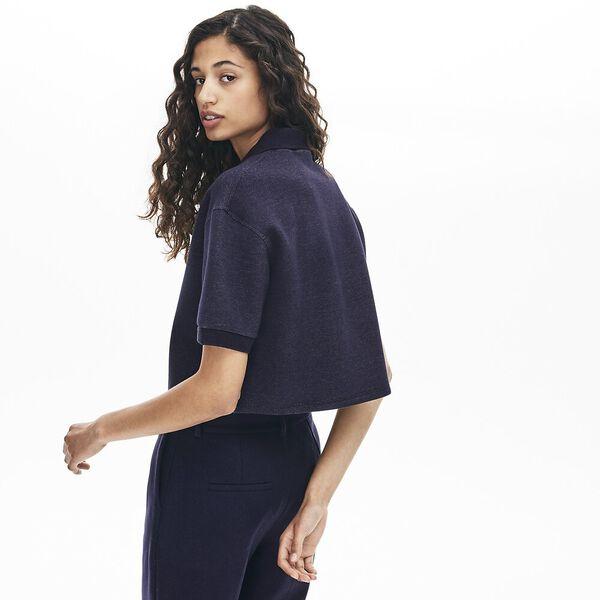 Women's Lacoste Motion Double Face Polo, NAVY BLUE, hi-res