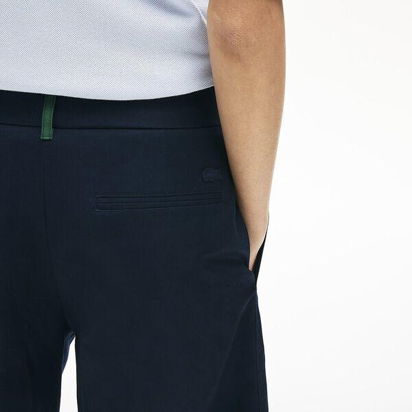 Women's Wide Premium Cotton Pants, NAVY BLUE, hi-res