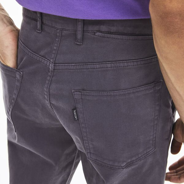 Men's Brushed Broken Twill Slim Pant, GRAPHITE, hi-res