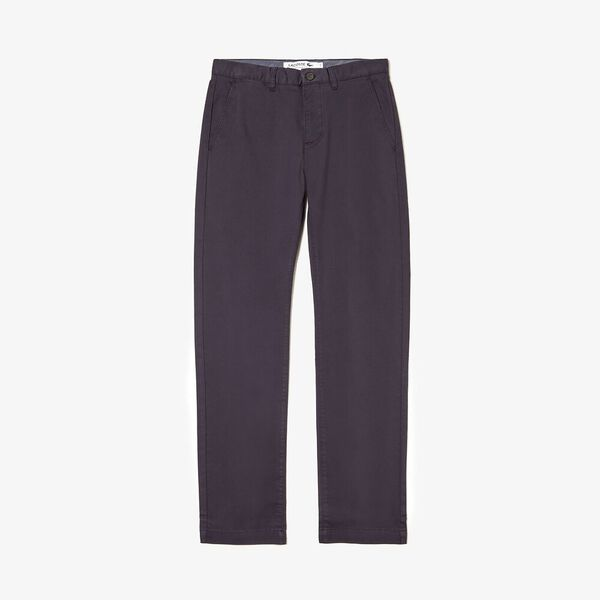 Men's Regular Fit Stretch Cotton Chinos, MARINE, hi-res