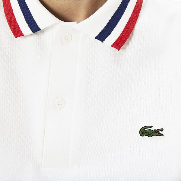 MEN'S MADE IN FRANCE POLO TIPPING, WHITE/SALVIA/CAPTAIN, hi-res