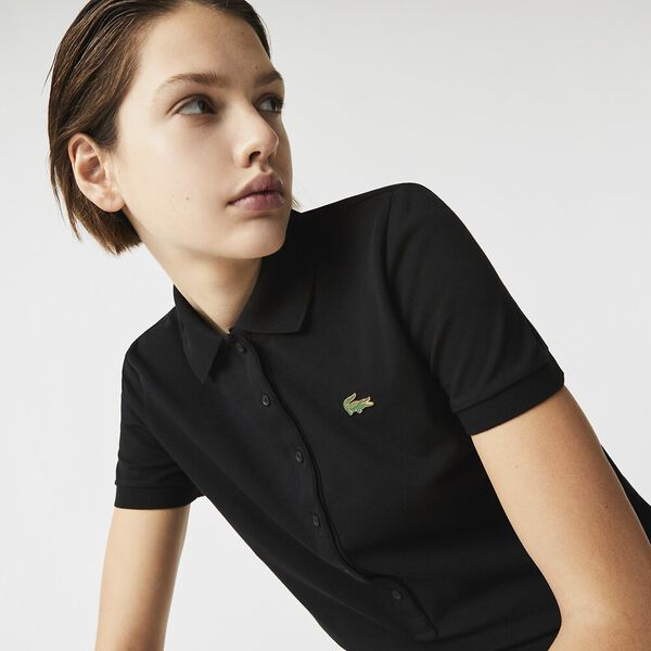 Women's LIVE Slim Fit Stretch Cotton Shirt, BLACK, hi-res