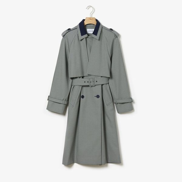 Women's Tattersalls Checked Weave Coat, GEODE/WHEELWRIGHT-NAVY BLUE, hi-res