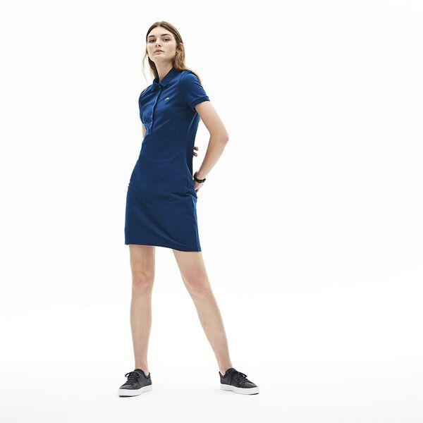 Women's Classic Slim Fit Polo Dress, RAFFIA MATTING, hi-res