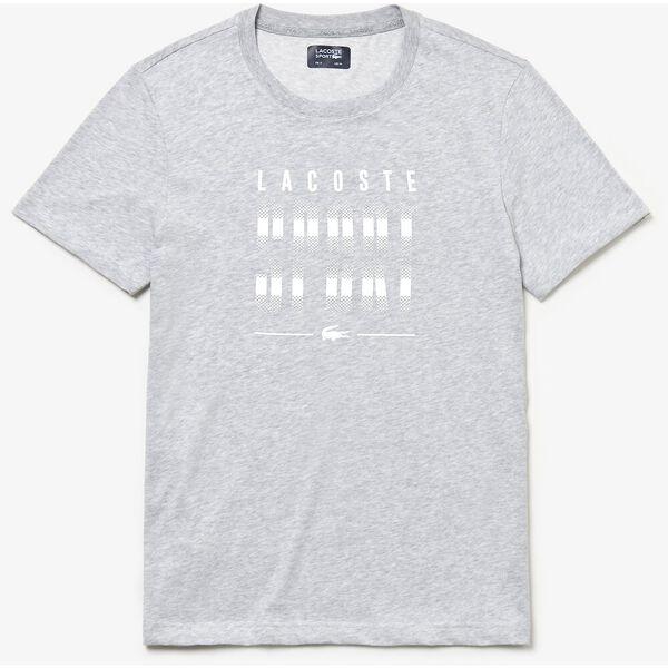 Men's BLurred Sport Print Tee, SILVER/WHITE, hi-res