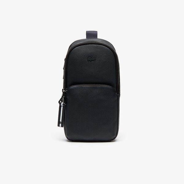 Men's Altitude Grained Leather Zip Shoulder Bag