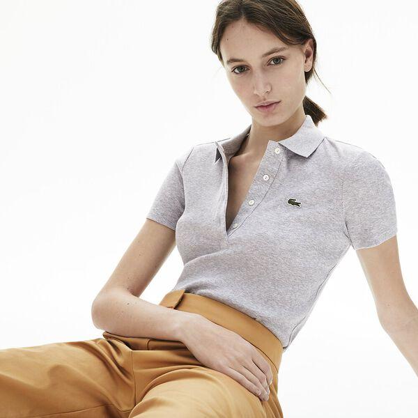 Women's Lacoste Ribbed Cotton Polo Shirt