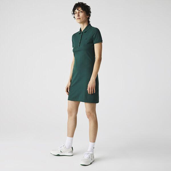 Women's Stretch Cotton Polo Dress, SWING, hi-res