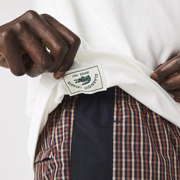 Men's Lacoste Classic Fit L.12.21 Organic Cotton Piqué Polo Shirt, FLOUR, hi-res