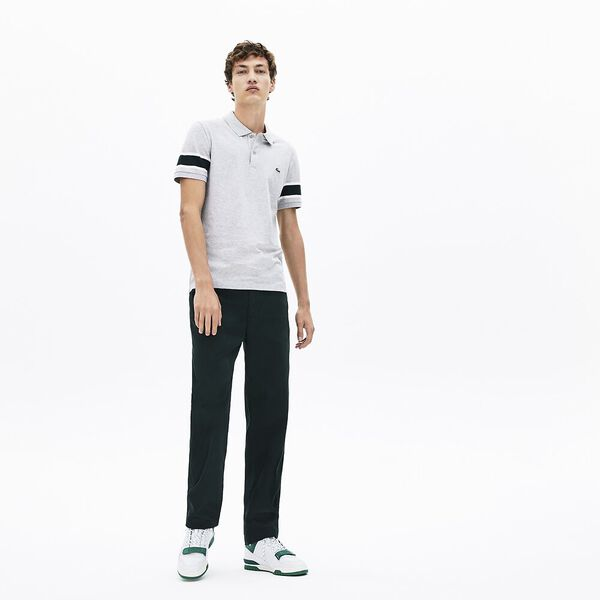 Men's 90S Sportswear Slim Fit Polo, SILVER CHINE/FLOUR, hi-res