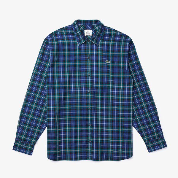 Men's L!ve Classic Long Sleeve Flannel Check Shirt, METHYLENE/MULTICOLOUR, hi-res