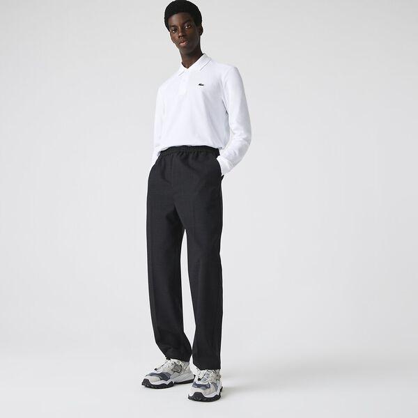 Men's Long Sleeve L.12.12 Classic Polo, WHITE, hi-res