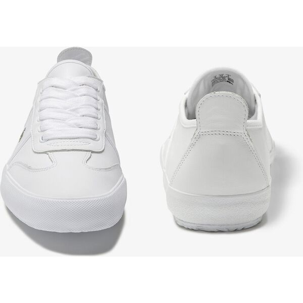 Men's Contest Leather Sneakers, WHITEE/OFF WHITE, hi-res