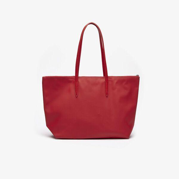 Women's L.12.12 Large Shopping Bag, HIGH RISK RED, hi-res