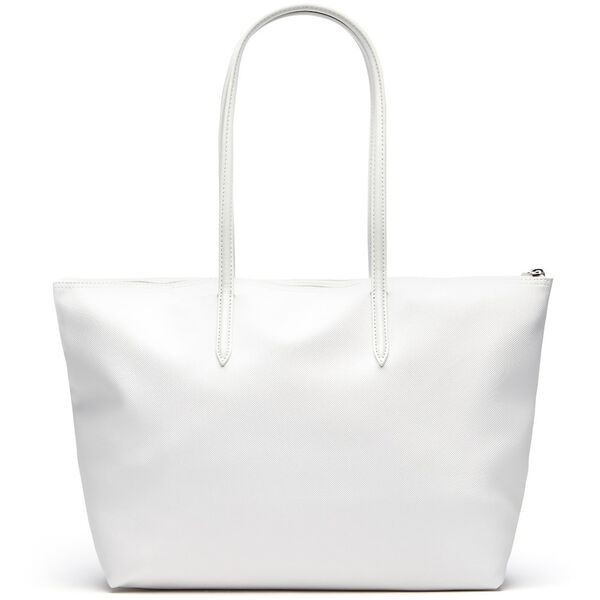 WOMEN'S L.12.12 LGE SHOPPING BAG, WHITE, hi-res