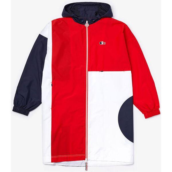 Women's SPORT French Sporting Spirit Oversized Raincoat, NAVY BLUE/RED-WHITE, hi-res