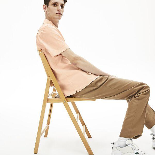 Men's Regular Fit Textured Cotton And Linen Shirt, NIDUS, hi-res